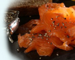 Lemon and Pepper Cold Smoked Salmon from The Bleikers Smokehouse