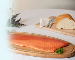 Gravadlax,  Sliced and Unsliced Sides